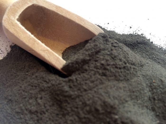 Lehm Ton schwarz gemahlen.
