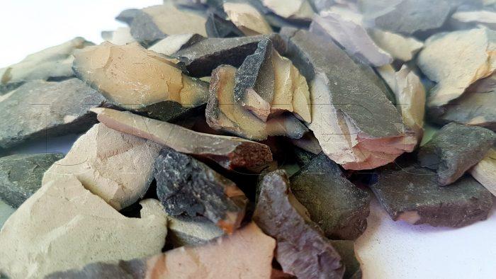 Indische Lehm Ton grau gebraten