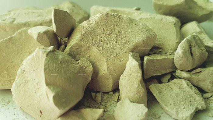 Lehm Ton gelb mit Kreide